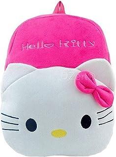 DZert Hellokitty Kids Bags for School Baby/Boys/Girls Velvet Backpack (Pink)