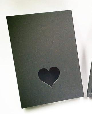 Caja de Regalo de cartón de Color Blanco y Negro (50 Unidades): Amazon.es: Hogar