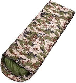MIS1950s Backpacking Camouflage Sleeping Bag – Lightweight, Comfortable, Windproof,Water Resistant, 3 Season Sleeping Bag for Adults & Kids – Ideal for Hiking, Camping & Outdoor Adventures