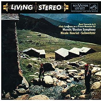Ravel: Piano Concerto in G Major, M. 83 - d'Indy: Symphonie sur un chant montagnard francais, Op. 25