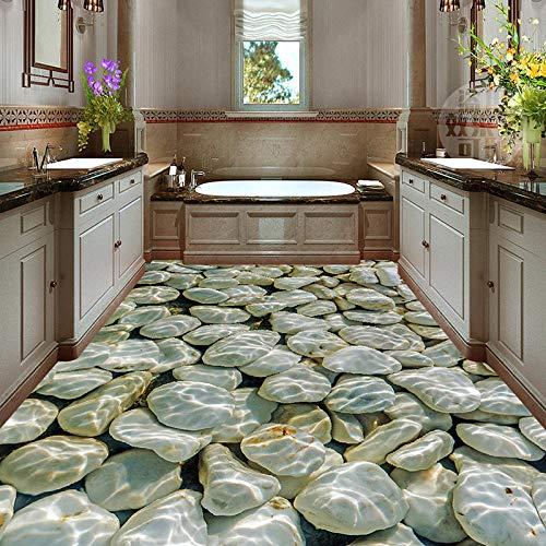 Foto wallpaper moderno 3D adoquín ola de agua baldosa pintura pintura mural pegatina sala de estar PVC impermeable fondo de pantalla-150cmx105cm