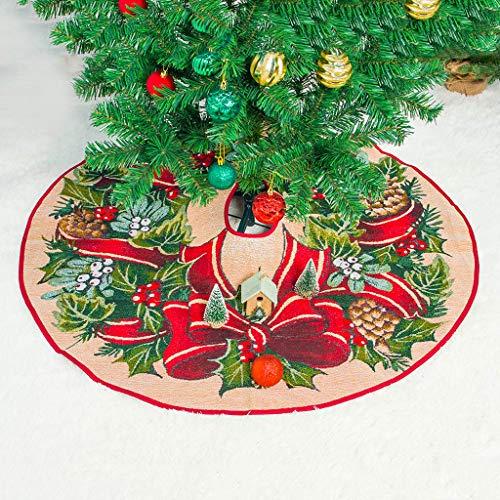 HSKB Weihnachtsbaumrock Weihnachtsbaum Rock Weihnachtsbaumdecke Baumdecke Christbaumständer Decke Weihnachtsdeko 100cm Passt alle Baumgröße Feiertags-Party-Dekoration