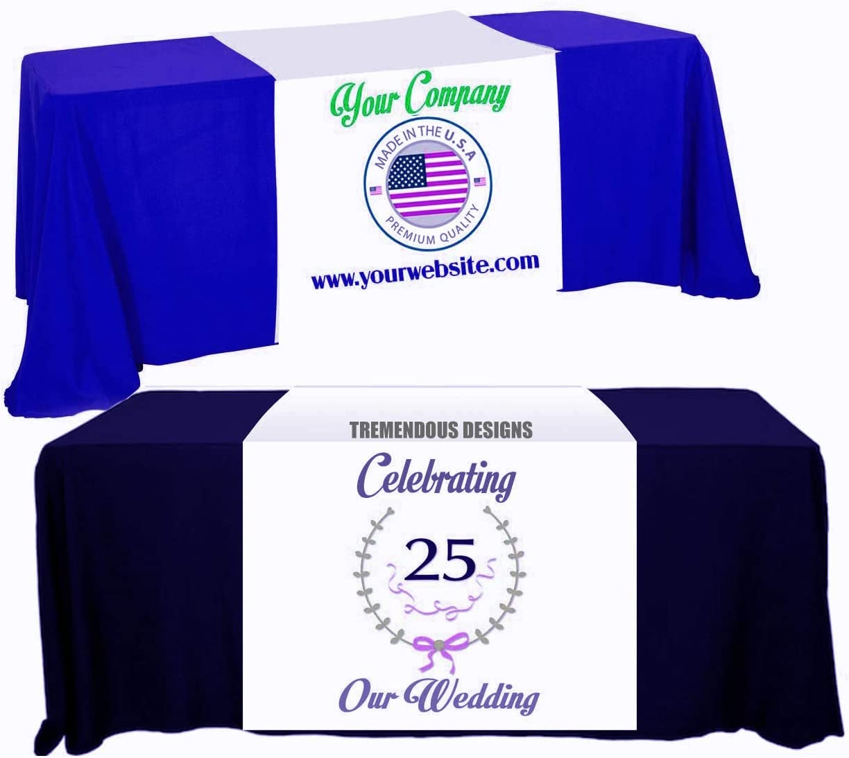 Customize Table Runner Cloth Using Directly managed store your and Busine for Logo Text Max 78% OFF