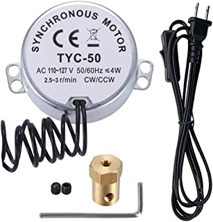 2.5/3 RPM Electric Turntable Synchronous Synchron Motor with 7mm Flexible Coupling Connector & 6ft