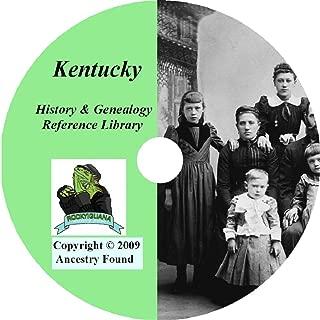 Kentucky History & Genealogy on DVD -104 books, Ancestry, Records, Family