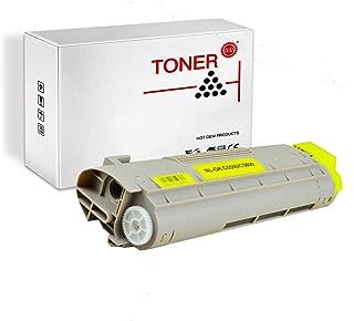PRINT-RITE 43324401 43381901 C5500 C5800 OKI5500 Yellow Toner Cartridge 5000 Page Yield 1 Pack Compatible for Okidata C5500/C5800 Printer