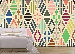 colorful geometric mural