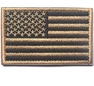 ShowPlus America Flag Patch Military Embroidered Tactical Patches Morale Shoulder Applique (Mud Color)