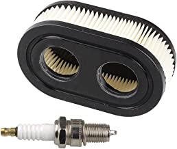 HIPA Oval Air Filter with Spark Plug for Troy-Bilt TB110 TB115 TB200 TB230 TB330 TB370 Walk-Behind Lawn Mower