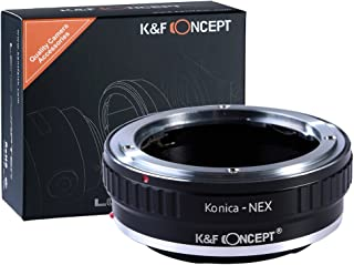K&F Concept Lens Mount Adapter Compatible with Konica AR Lens to Sony NEX E-Mount Camera Body, fits Sony NEX-3 NEX-3C NEX-5 NEX-5C NEX-5N NEX-5R NEX-6 NEX-7 NEX-VG10 etc