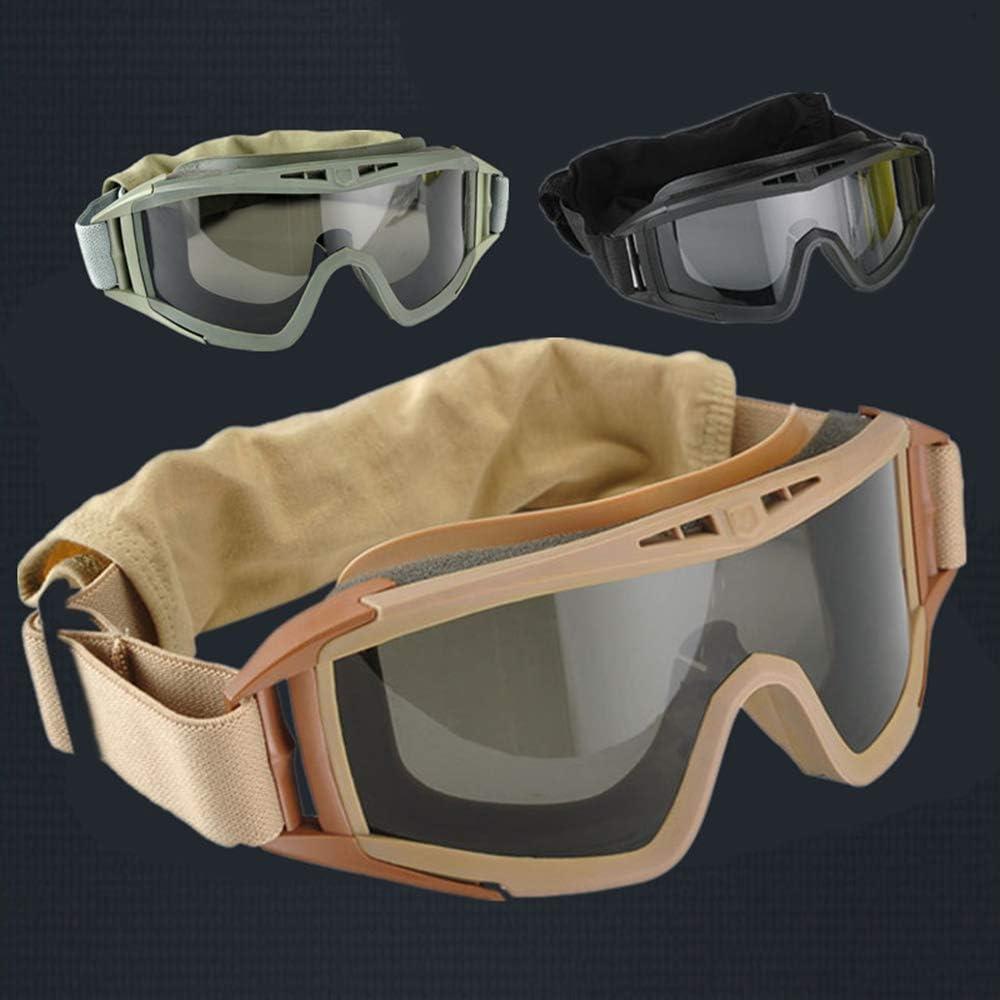 Vasos Hombres al Aire Libre de la Bici contra Niebla, tácticas Langosta del Desierto Protección Gafas Campo Mujer Hombre para Evitar Que Las Gotas Gafas Niebla,Bronce