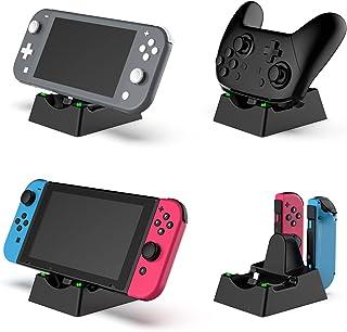 TwiHill O carregador inferior é adequado para Nintendo Switch e joy-con, carregador de console, carregador de controle Nin...