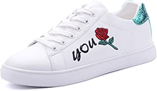 Sports Shoes Fashion Simple Embroidery Casual Shoes Women's Flat Sports Lace-up Skateboard Shoes