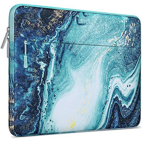 MOSISO Laptop Sleeve Kompatibel mit 13-13,3 Zoll MacBook Pro, MacBook Air, Notebook Computer, Polyester Horizontal Kreative Welle Marmor Tasche