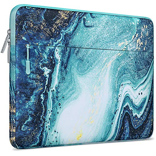 MOSISO Laptop Sleeve Compatible with MacBook Air 11, 11.6-12.3 inch Acer Chromebook R11/HP Stream/Samsung/ASUS/Surface Pro X/7/6/5/4/3, Polyester Horizontal Creative Wave Marble Bag