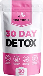 Tea Tonic 30 Day Detox Tea Weight Loss Cleanse For Reduced Belly Fat A Slimming Way To A Skinny And Fit Waistline