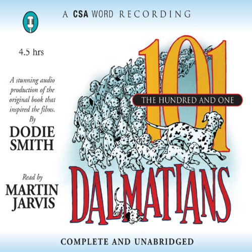 The Hundred and One Dalmatians audiobook cover art