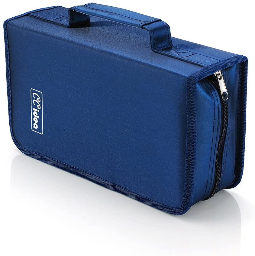 128 Capacity CD DVD Case Holder Storage Nippon favorite regular agency by Blue CCidea Binder