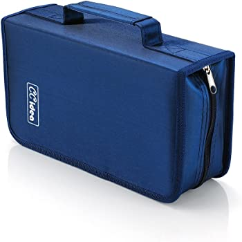 128 Capacity CD/DVD Case Holder, Storage Binder by CCidea (Blue) Specials