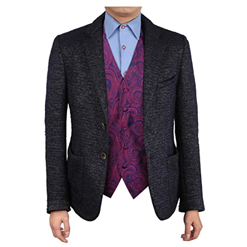 38c0f6c2b Epoint EGC1B01-03 Multi Mens Paisley Waistcoat Woven Microfiber S-5XL Vest