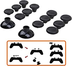 MXRC Professional Replacement Repair Kit Swap Thumb Analog Sticks for PS4 Controller & Xbox One Controller, Black