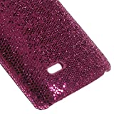 JUJEO Glittery Sequins Coated Hard Shell Case for LG G3 S