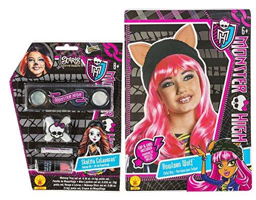 Rubies Monster High Howleen Wolf Wig and Skelita Calaveras Make Up Set