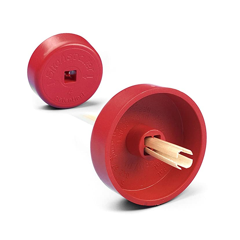 Knorr Prandell Straw Splitter with 4 Stripes, Red