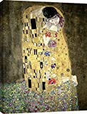 Art Print Cafe – Cuadro – Impresion sobre Lienzo – Gustav Klimt, El Beso – 70x50 cm