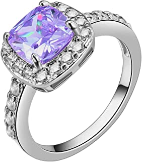 Impression Collection Cushion Halo Cubic Zirconia CZ Engagement Rings Wedding Party Statement Cocktails Classic Fashion Size 4-12
