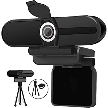 4K Webcam, Webcam 8MP HD Computer Camera with Microphone, Pro Streaming Web Camera with Privacy Shutter and Tripod, Desktop Laptop USB Webcams
