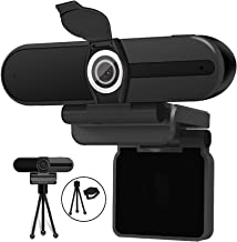 4K Webcam, Webcam 8MP HD Computer Camera with Microphone, Pro Streaming Web Camera with Privacy Shutter and Tripod, Deskto...