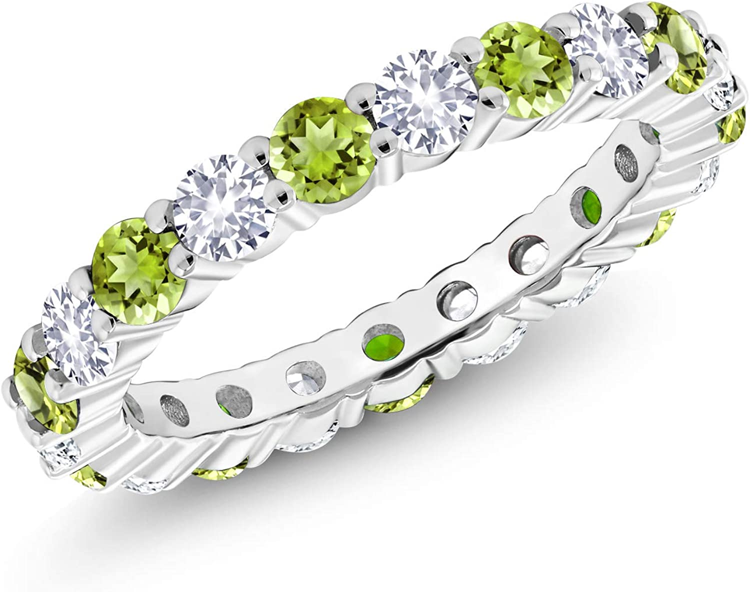 Gem Max 85% OFF Stone Popular products King 1.20 Ct Round Peridot Sap White Green and Created