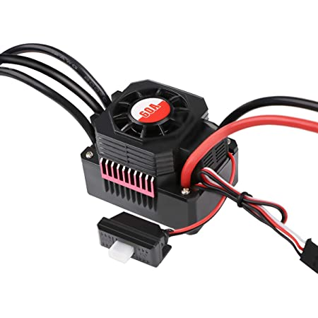 Crazepony-UK F540 5T 3930KV 4P 3.175mm Shaft Brushless Motor Waterproof 80A ESC Combo Set Programming Card 1//10 Scale RC Car Banana Plug