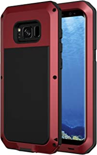 Galaxy S8 Plus Case, Seacosmo Full Body Military Rugged Heavy Duty Shockproof Dual Layer Bumper Case Cover for Samsung Galaxy S8+ (Without Screen Protector), Red