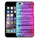Apple iPhone 6 Case, Snap On Cover by Trek Dyed Wood Blue Pink Case
