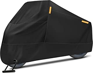 Puroma Motorcycle Cover, XX-Large Waterproof Motorbike Cover Outdoor Indoor Scooter Shelter Protection with 4 Reflective S...