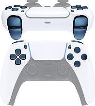 eXtremeRate Botões de substituição D-pad R1 L1 R2 L2 Compartilhar opções de botões de rosto para controle PS5, azul royal ...