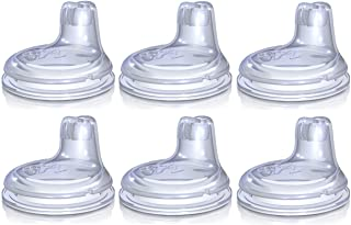Nuby 6 Pack Replacement Silicone Spouts for the Nuby No Spill Easy Grip Cup
