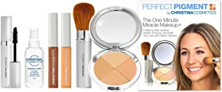 Christina Cosmetics Perfect Pigment 2: The 1 Minute Miracle Makeup! Full size 7 pc Kit - For Olive to Tan complexions
