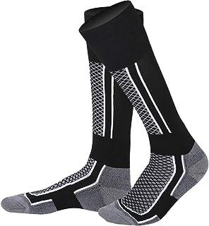 Calcetines térmicos de esquí Espesar Algodón Cálido Calcetines deportivos Snowboarding Ciclismo Niños Niña Esquí Caminar Calcetines Calentador de piernas Calentador