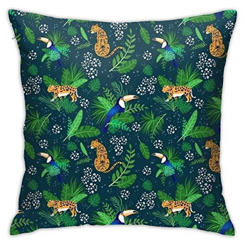maichengxuan Tropical Garden – (4) fundas de almohada, fundas de almohada, fundas de almohada de piso, sofás, fundas de cojín, fundas de respaldo de coche