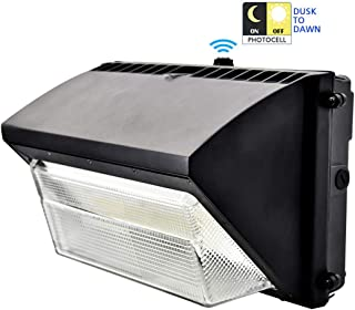 MIXJOY 60W Led Wall Pack Light, Outdoor Security Lights with Dusk to Down Photocells, 5000K Daylight, AC100-277V, Lifetime 50000H, IP65 Waterproof Area Lighting, 5 Years Warranty