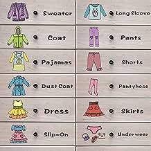 Girls Clothing Label Wardrobe Classification Tips Storage Organizing Decals Kids Drawer Decor Sticker FG015H 11.02x11.02