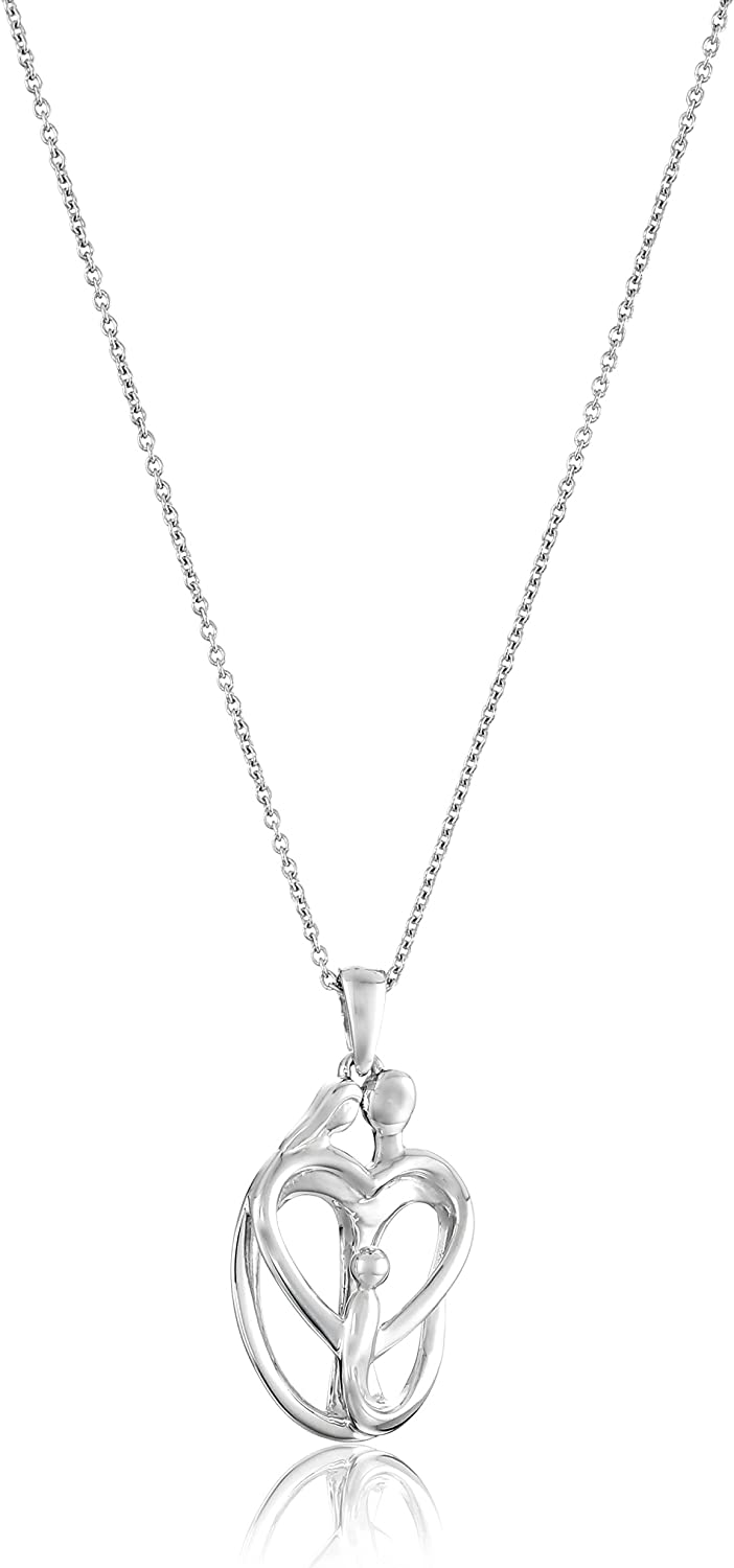 Solid Sterling Silver 1 Family 18 Necklace