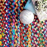 nuLOOM Tammara Handgeflochten Teppich, Baumwolle, Bunt, 90 cm x 150 cm oval - 7