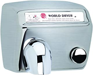 Model A Durable Hand Dryer Voltage: 110-120 V, 20 Amps, Finish: Brushed Stainless Steel