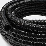 Wiltec 25m Förderschlauch 25mm (1') sehr flexibel - schwarz - Made in Europe