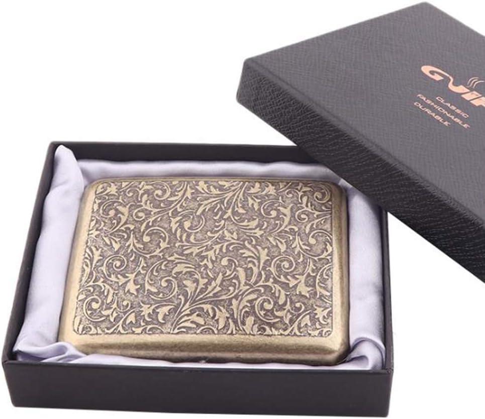 per 20 sigarette Portasigarette retr/ò Canghai oro 1 in acciaio inox nichelato