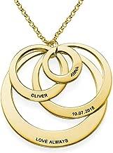 oidea 3/anneaux entrelac/és acier inoxydable Fian/çailles mode homme femme argent cadeau une Collier Cha/îne peut entrainer porter aussi comme collier Taille au choix